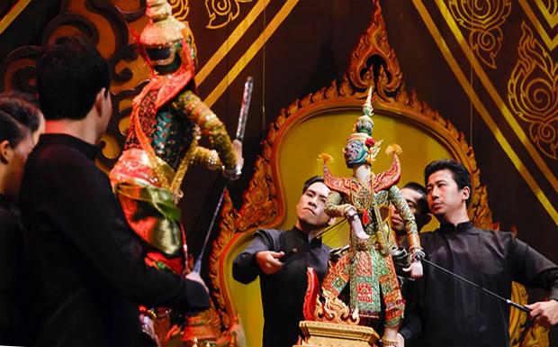 Представление в кукольном театре в Бангкоке