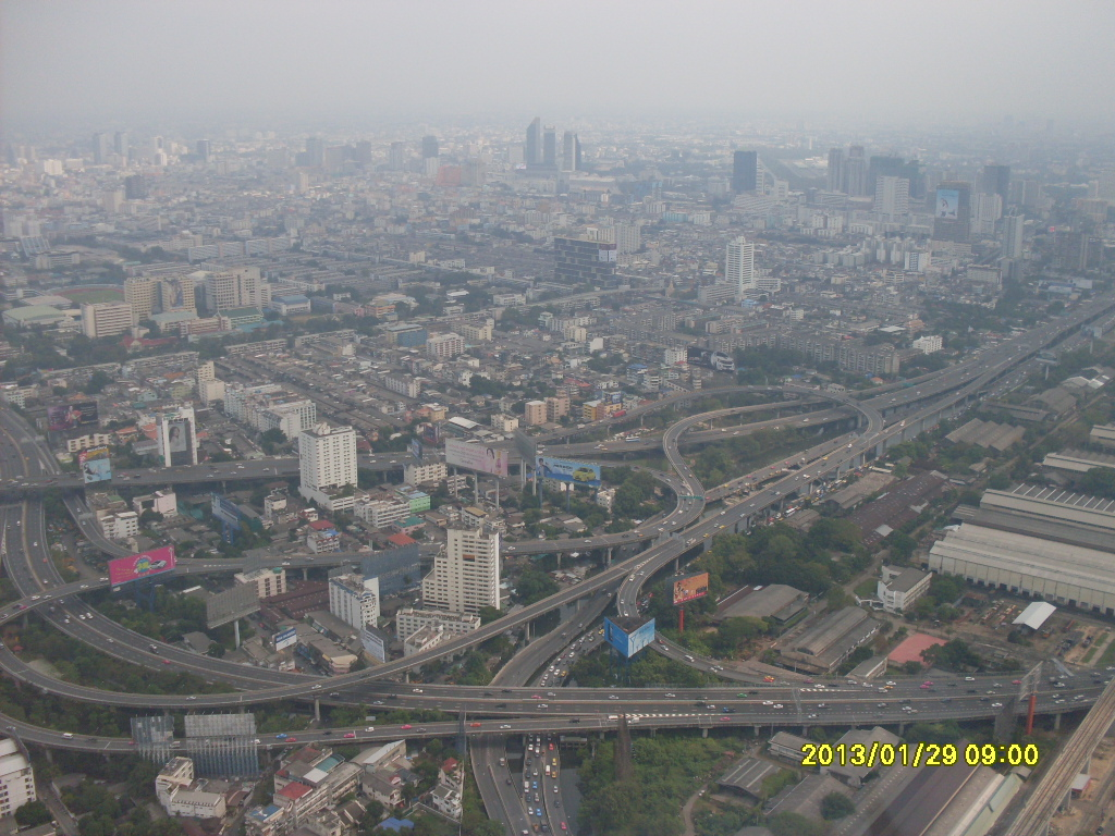 Вид на Бангкок со смотровой площадки