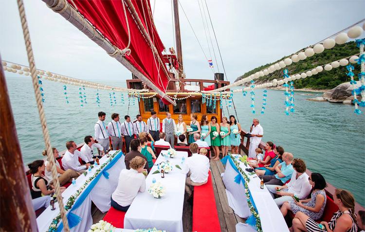 Свадьба на яхте в Таиланде