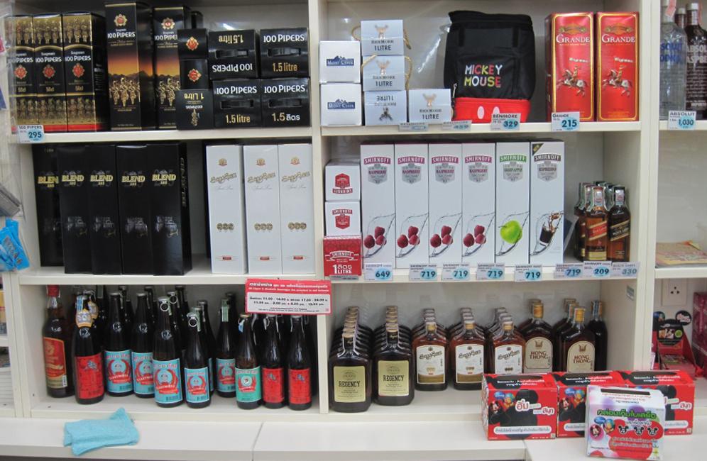 Алкоголь в магазине 7-11